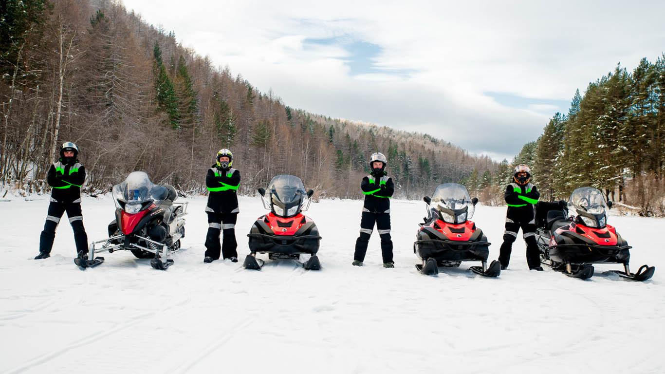 Туры на снегоходах по Уралу